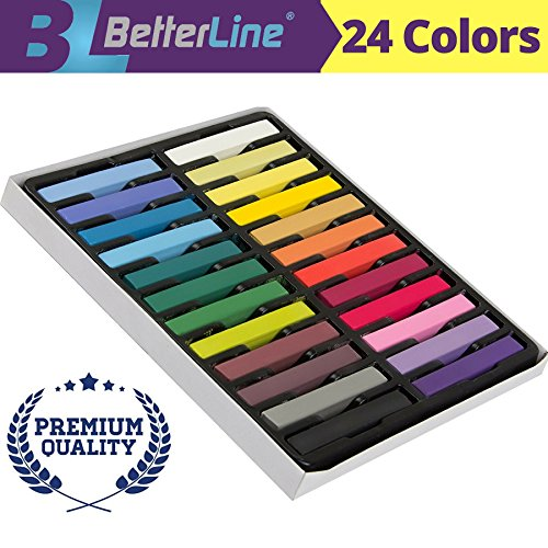 Hair Chalk Set - Temporary Flair for Your Hair (24 Colors) by BETTERLINE
