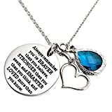 You Are Braver Than You Believe Awareness Necklace Birthstone Graduation Gift Best Friend Encouragement Gifts