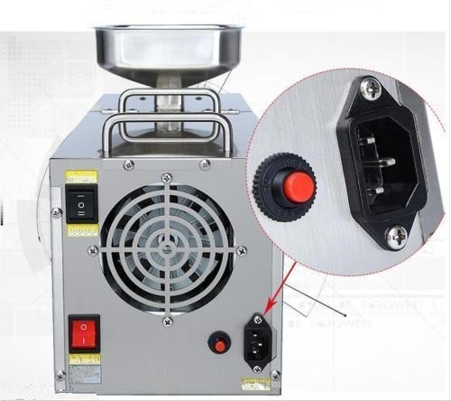 JIAWANSHUN 400W 220V/50HZ 110v/60HZ stainless steel Automatic Multi-functional Home Small seeds Oil Press Machine (110V)