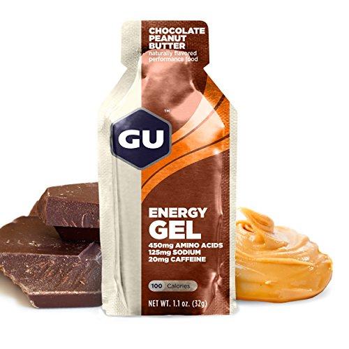 GU Original Sports Nutrition Energy Gel, Peanut Butter / Chocolate, 8-Count