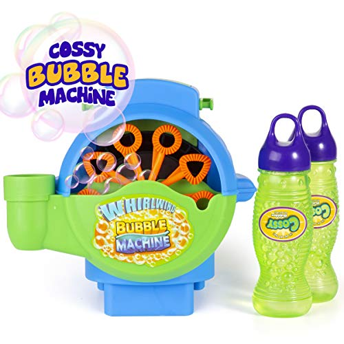 cossy Bubble Hurricane Machine for Kids, Automatic Durable Bubble Blower, 1000 Bubbles per Minute with 2 Bottles of Bubble Solution, Waterproof Motor and Rugged Housing , Outdoor/Indoor Use