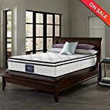 LCH 10 Inch Queen Latex Hybrid Mattress - Gel Memory Foam Simmons Mattress - Comfort Firm - Responsive Feel - Pillow top - Individually Pocket Coil - 10-Year Warranty