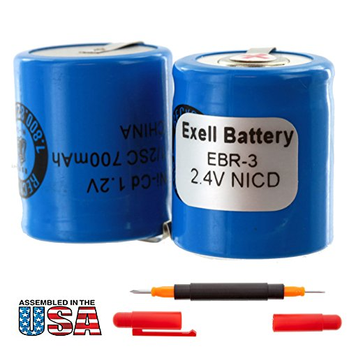 Exell 2.4V Razor Battery for Norelco 800RX, 805RX, 815RX, 815RX/A, 900RX, 950RX, Philips 900, Remington 2B3, 3BF1C, 8BS3-1C, 9BF21C, MK1V, PM 950, SM400, XLR 900, XLR 920 Replaces Razor-3 (Best Beard Trim Lines)