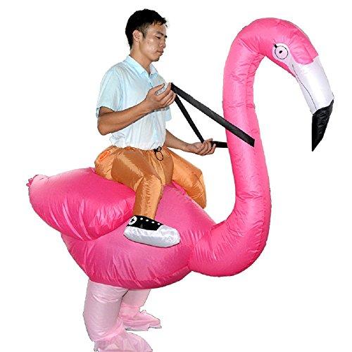 Flamingo Inflatable Costume Reider Cosplay Halloween Inflatable Suit Rose Pink -