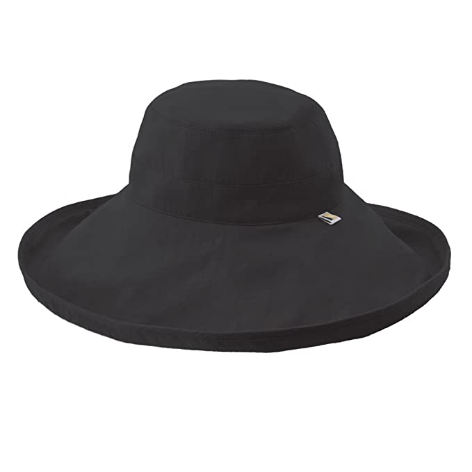 661e31dc Solumbra Ultra-Wide Rolled Brim Hat L Black: Amazon.ca: Clothing ...