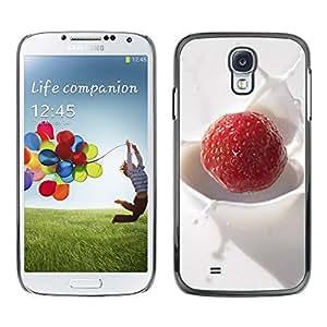 LASTONE PHONE CASE / Carcasa Funda Prima Delgada SLIM Casa Carcasa Funda Case Bandera Cover Armor Shell para Samsung Galaxy S4 I9500 / Fruit Macro Creamy Raspberry