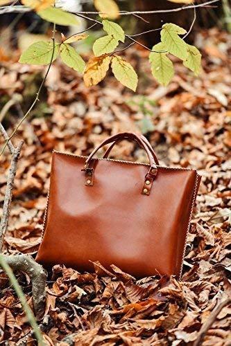 Genuine Leather Messenger Bag Briefcase Handbag