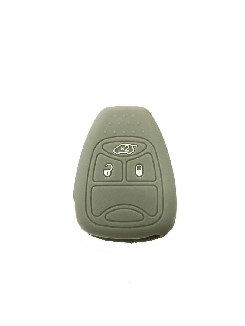Dian Bin 3 Buttons Gray Silica Gel//Silicone Smart Key Cover for Jeep Available