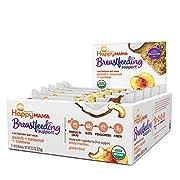 Happy Mama Breastfeeding Support Lactation Oat Bars, Peach Coconut & Cashew, 1.58 ounces, 15 count