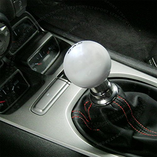 LT Sport SN#100000000987-0763-212 for Ford Shift Knob 6-SPD Silver + Boot Cover Combo - Probe Ford Short Shifter