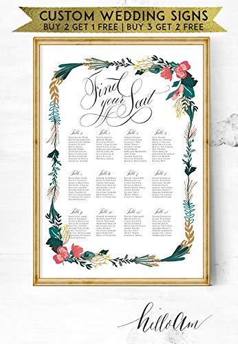 Amazon Com Malertaart Wedding Signs Table Numbers Wedding