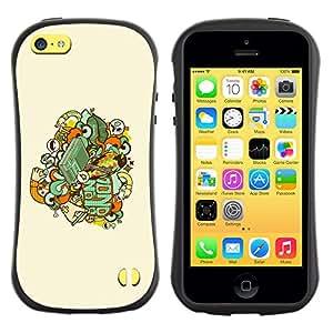 Be-Star Impreso Colorido Diseño Antichoque Caso Del iFace Primera Clase Tpu Carcasa Funda Case Cubierta Par Apple iPhone 5C ( Skull Badge )