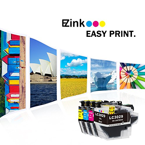 E-Z Ink (TM) Compatible Ink Cartridge for Brother LC3029 XXL (1 Black, 1 Cyan, 1 Magenta, 1 Yellow)4 Pack works with MFC-J5830DW MFC-J5830DWXL MFC-J5930DW MFC-J6535DW MFC-J6535DWXL MFC-J6935DW Photo #6