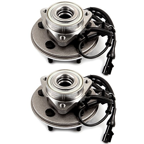 ECCPP Pair of 2 New Complete Rear Wheel Hub Bearing Assembly 5 Lugs w/ABS for 2006-2009 Buick Chevy 512244×2