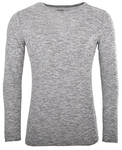 Herren Langarmshirt Longsleeve Pullover Sweatshirt Gr. XS , S , M , L , XL , XXL Slim Fit SOHO New York (L)