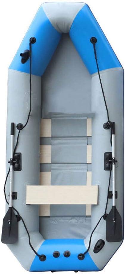 KBSN Balsa Inflable Multifunción, Bote Inflable Recreativo con Cuerda de Seguridad, Remos y Bomba de Aluminio, Tiene una Tira Anticolisión de PVC Engrosado, Rodamiento Máximo de 300 kg: Amazon.es: Deportes y aire