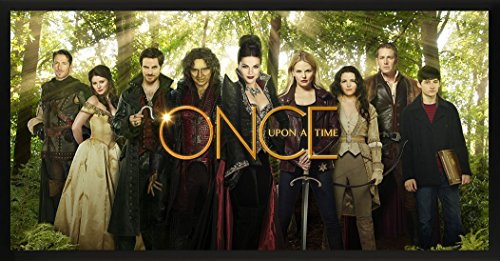 Culturenik Once Upon a Time Main Cast in Enchanted Forest Fantasy Drama Fairy Tale TV Television Show Print (Framed 12x24 Poster) (The Black Fairy Once Upon A Time)