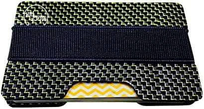 MGCFTan Carbon Fiber Glossy Money Clip Credit Card Business Card Holder 1 Plates