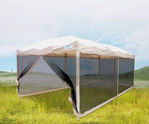 Quictent Ez Tan 10×20 Feet Pop up Party Tent Canopy Gazebo Mesh Side Wall With Carry BAG