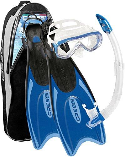 Cressi Unisex Schnorchel-Tauchset, blau, L/XL (44/47), CA122544