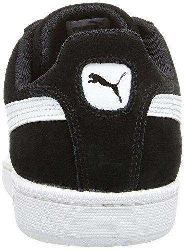 Puma–Puma Smash Ante leatther Zapatos Negro y blanco