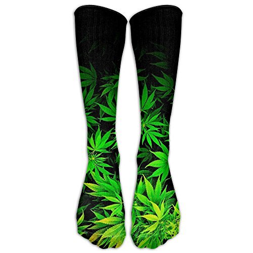 Girls Cannabis Weed Tube Stockings Funny Crew - Blizzard Beech