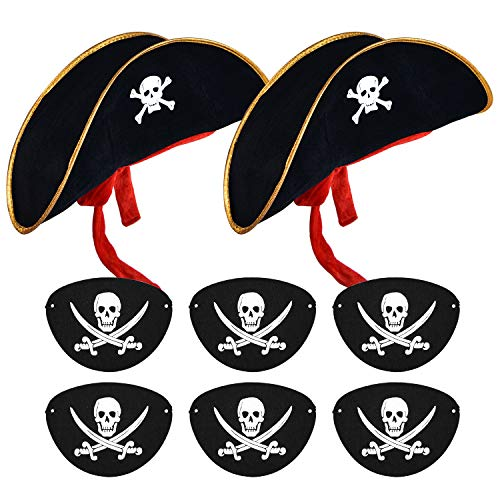 Pirate Costumes For School - SAYAYA 2 Pieces Pirate Hat with