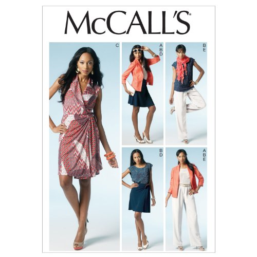 (McCall Patterns M6519 Misses' Unlined Jacket, Top, Dress, Skirt and Pants, Size E5 (14-16-18-20-22))