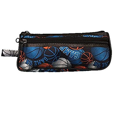 Basketball Toiletry Travel Bag Case 2 Zipper Gift - Cosmetics, Jewelry, Accessories, Electronics