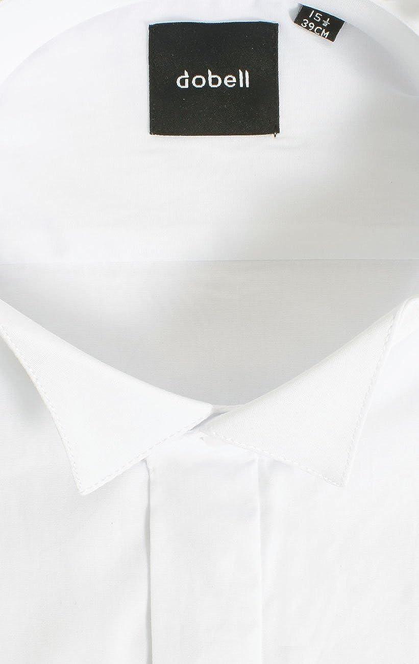 Dobell Smokinghemd Schlichte Hemdbrust Smokingkragen