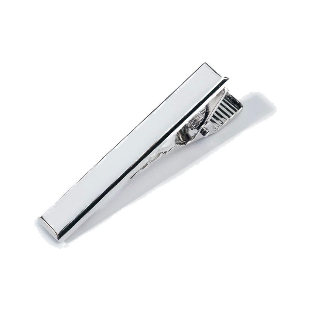 Hook & Albert Beveled Edge Tie Bar | Silver