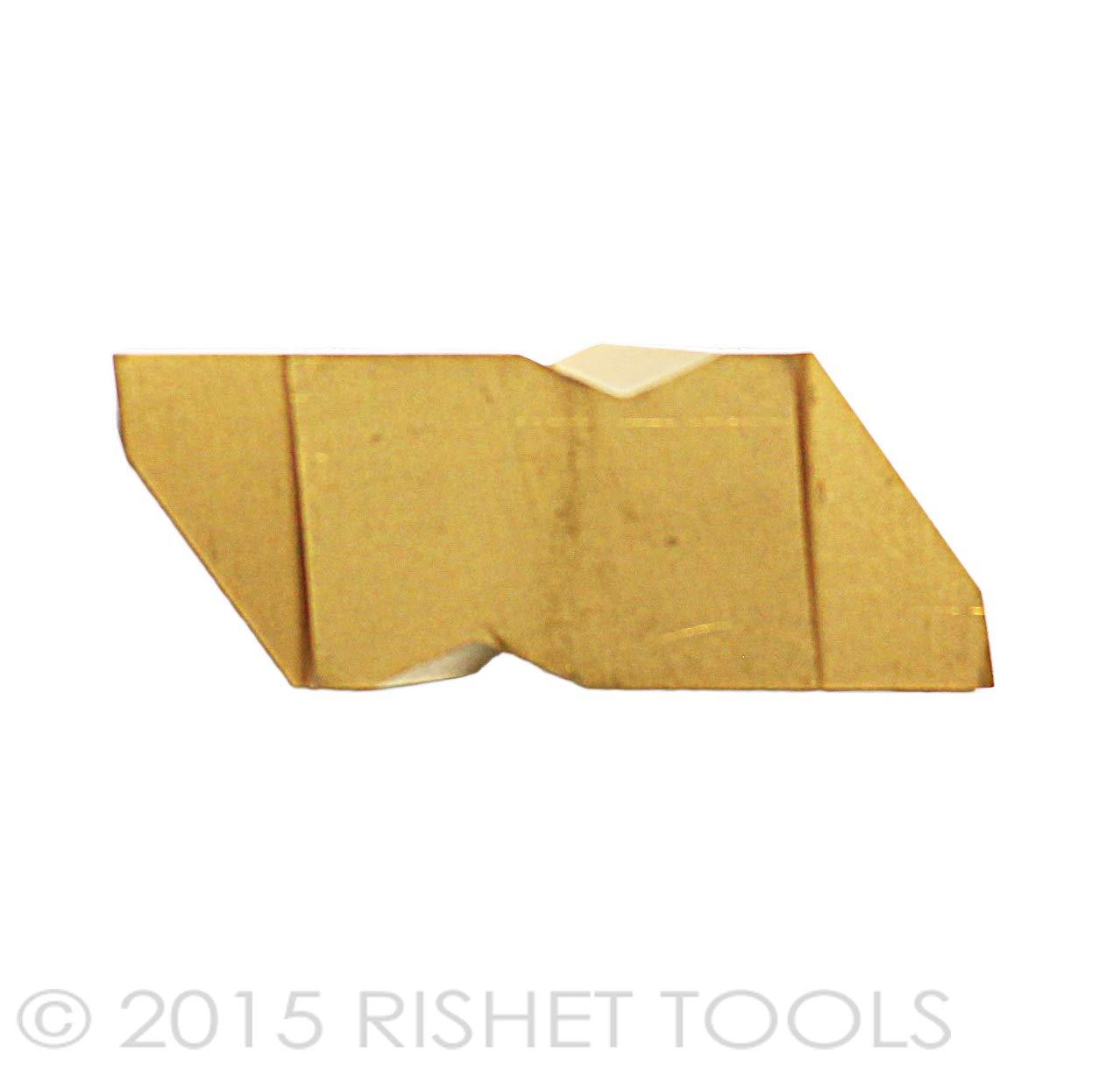 RISHET TOOLS TPU 222 C5 Multi Layer TiN Coated Carbide Inserts 10 PCS