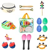 Kyпить Toddler Toys Musical Instruments - Ehome 9 types 16pcs Percussion Toy Set for Kids Preschool Educational Early Learning Toys Musical Toys for Boys and Girls with Carrying Bag на Amazon.com