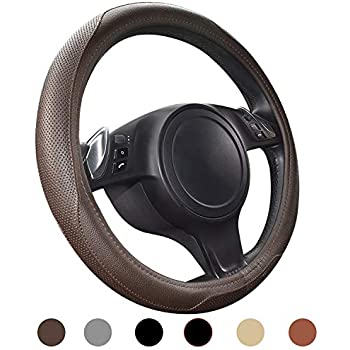 Microfiber Embossed Leather Tan FH Group FH2006TAN Steering Wheel Cover
