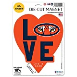 WinCraft Auburn Tigers Official NCAA 5'' x Life is Good Love Logo Magnet Refrigerator Car 5x5 by 958396