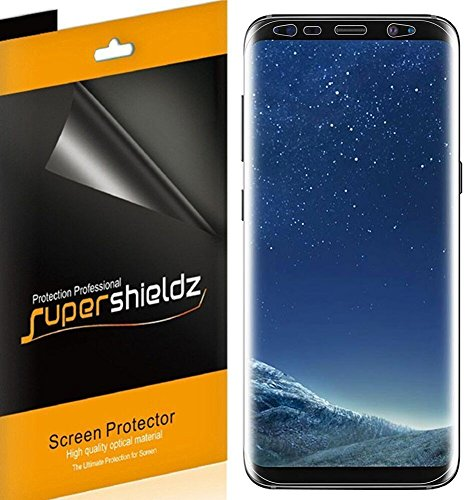 [2-Pack] Supershieldz for Samsung Galaxy S8 Plus / S8+ Screen Protector, [Full Coverage] High Definition Clear Shield -Lifetime Replacements Warranty