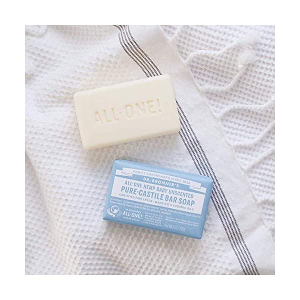 Dr. Bronner's Mild Aloe Baby Soap Bar Made with Organic Ingredients 140 g