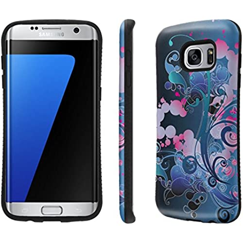 Galaxy S7 Edge / GS7 Edge Case, [NakedShield] [Black Bumper] Heavy Duty Shock Proof Armor Art Phone Case - [Midnight Fleur] for Samsung Galaxy S7 Edge / GS7 Sales