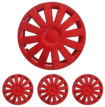 Tapacubos – Tapacubos Tapacubos Agat Rojo 15 pulgadas 15 R15 universal apto para casi todos