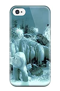 Fashionable Style Case Cover Skin For Iphone 4/4s- Ice Deities
