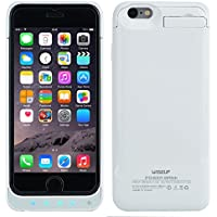 Wiseup™ 6800mAh External Backup Battery Case Charger Portable Protective Power Bank Packs for iPhone 6 4.7 (White)