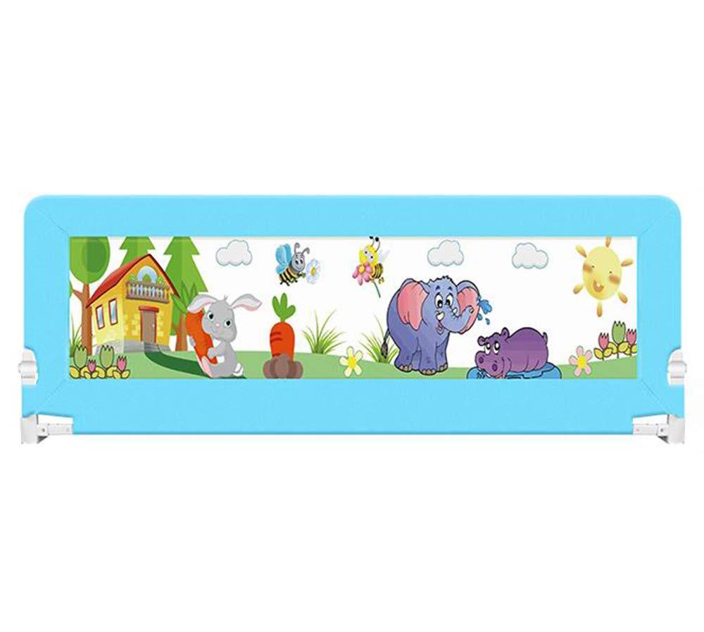 【正規通販】 赤ちゃんの子供のベッドのガードレール、赤ちゃんのベッドサイドのフェンス、大きなベッドレール、アンチフォールフェンスガードレール、ダブルボタン折り畳み安全ガードレール、2スピード調節可能 B07JBR9VZ4 180*68cm、高さ68cm blue 180*68cm blue B07JBR9VZ4, 佐波郡:873c0134 --- a0267596.xsph.ru
