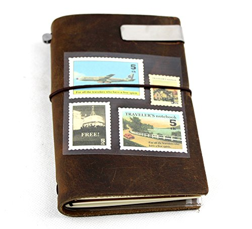 Passion Vintage Handmade Refillable Leather Travelers Journals Diary Geniune Leather Notebook Diary Notepad Notebook Handmade Traveler's Notebook Travels (1610cm)