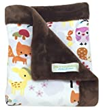 "Cheap Paws For Humanity Woodland Creatures Minky Blanket for Dogs ~ Cuddly Small Double Thickness 26"" x 30"" ~ for Puppies, Toy Breeds, Dog Stroller, Carrier, Sling, Crate, Car and Lap ~ USA Made"