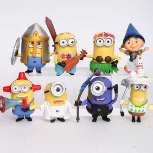 Despicable Me Minions Movie Action Figures Character Doll Toy Set of 8pcs