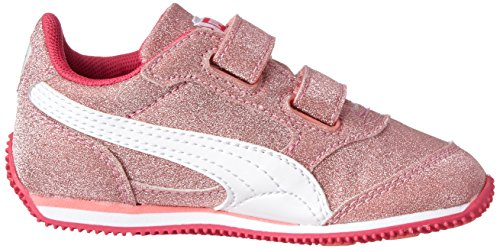 83fbdc345f81 PUMA Steeple All-Over Glitter V Sneaker,Salmon Rose/White/Beetroot Purple