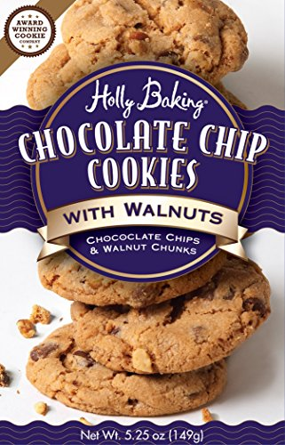 Holly Baking Chocolate Chip Cookies, With Walnuts, 5.25 Ounce (Pack of 6)