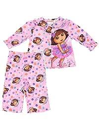 Nickelodeon Baby Girls' Dora Pink Coat-Style Pajamas