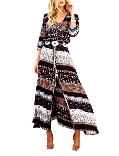 Coolred-femmes Maxi Imprimé Fleur Robe De Soirée 6