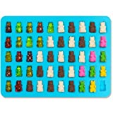 Joyoldelf 2 PACK - 50 Cavity Mini Gummy Bear Sweet Moulds for Hard Candy & Chocolate Making - Silicone Soap and Ice Cube Trays & Jelly Molds